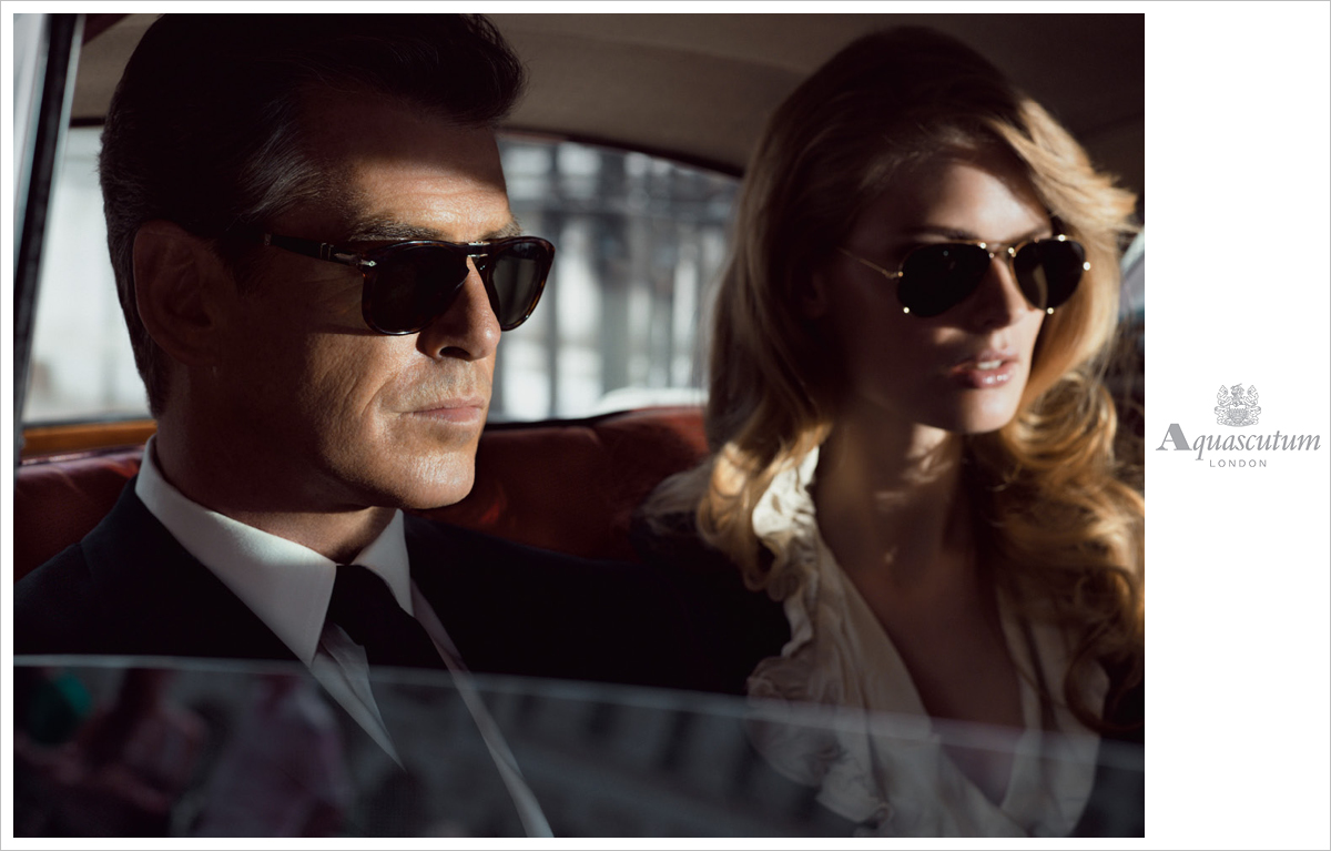 Photograhy Mario Sorrenti. AW2006 Pierce Brosnan and Julia Steigner.